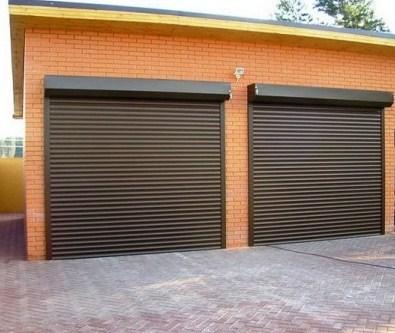 Рольставни для гаража коричневые