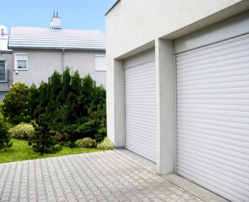 Рольставни для гаража белого цвета