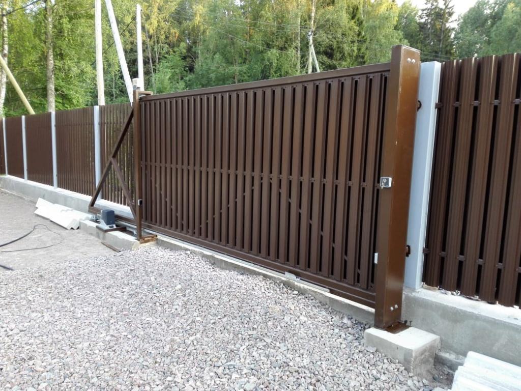 Ремонт коричневых откатных ворот