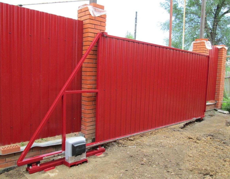 Ремонт откатных ворот красных