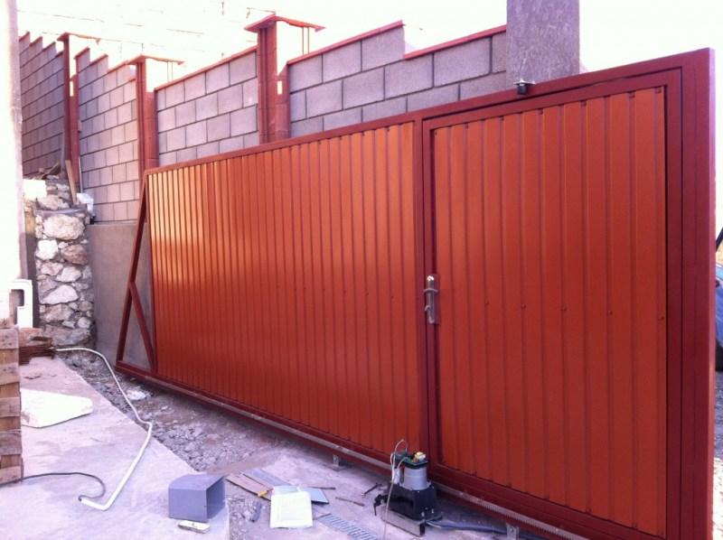 Ремонт откатных ворот оранжевых