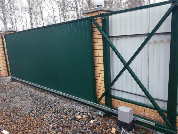 Ремонт зеленых откатных ворот