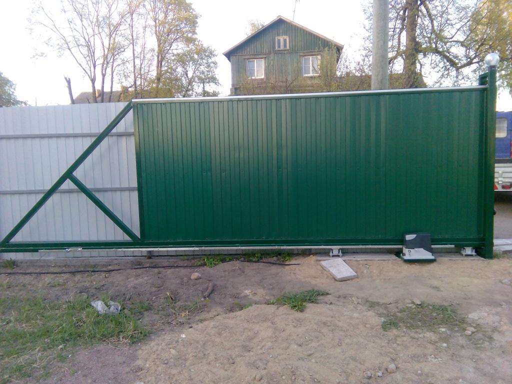 Ремонт ворот откатных зеленых