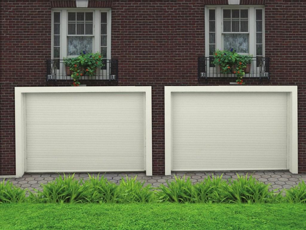 Гаражные рулонные ворота для частного гаража белого цвета