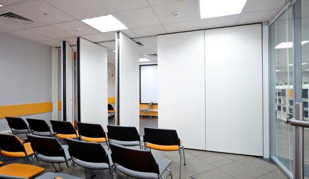 Двойные раскладные офисные перегородки для актового зала