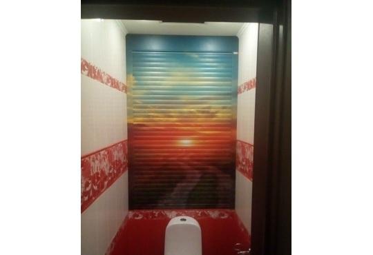 Рольставни в туалет с фотопечатью «Закат»