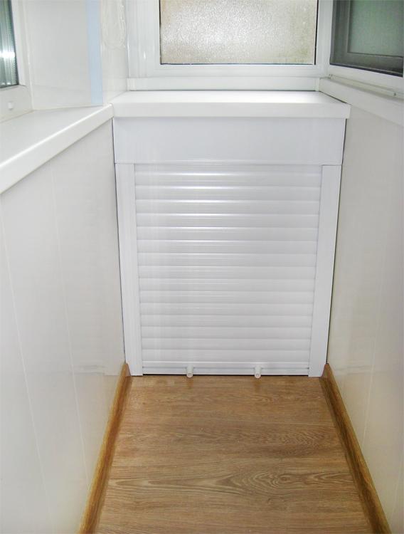 Роллеты для нижнего шкафа на балконе