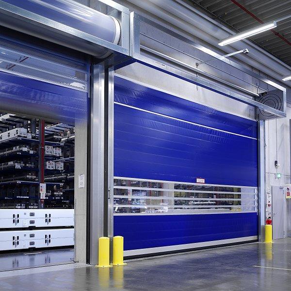 Скоростные ворота для внутреннего использования на склад