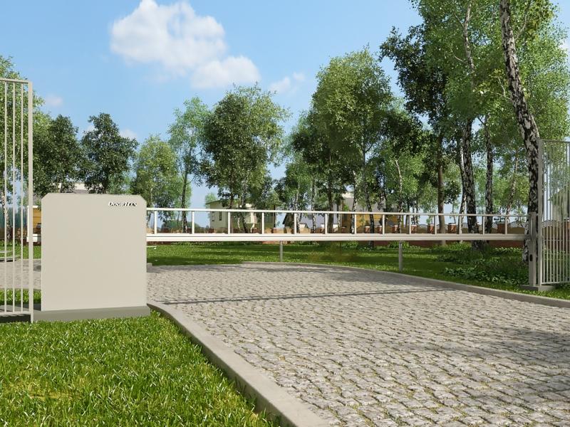 Антивандальный шлагбаум Дорхан для парковой зоны
