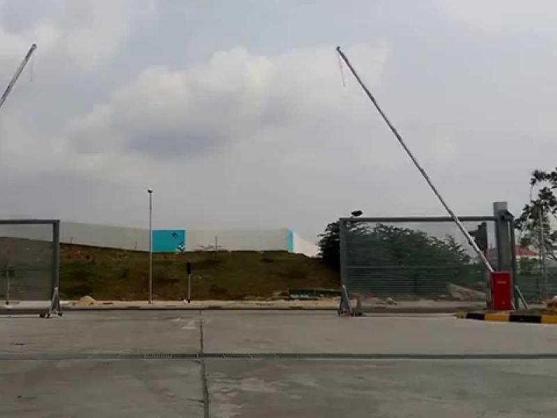 Комплект шлагбаума FAAC для проходной крупного завода