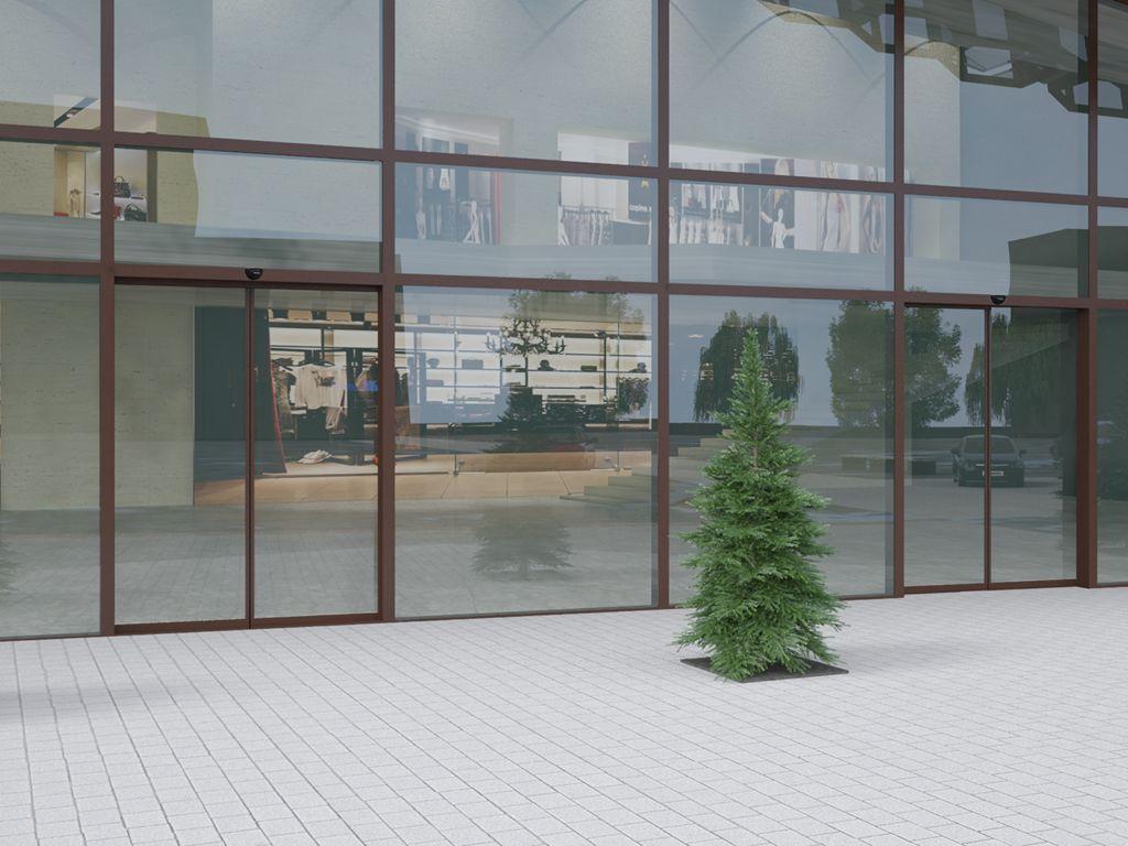 Раздвижные автоматические двери Doorhan для бизнес-центра