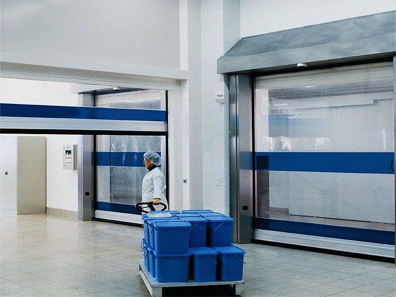 Скоростные промышленные ворота для производственных помещений