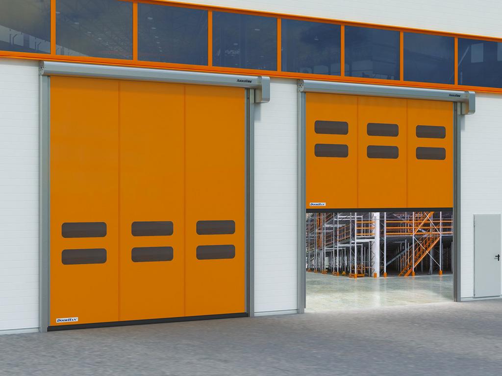 Скоростные ворота для продуктовых складских помещений