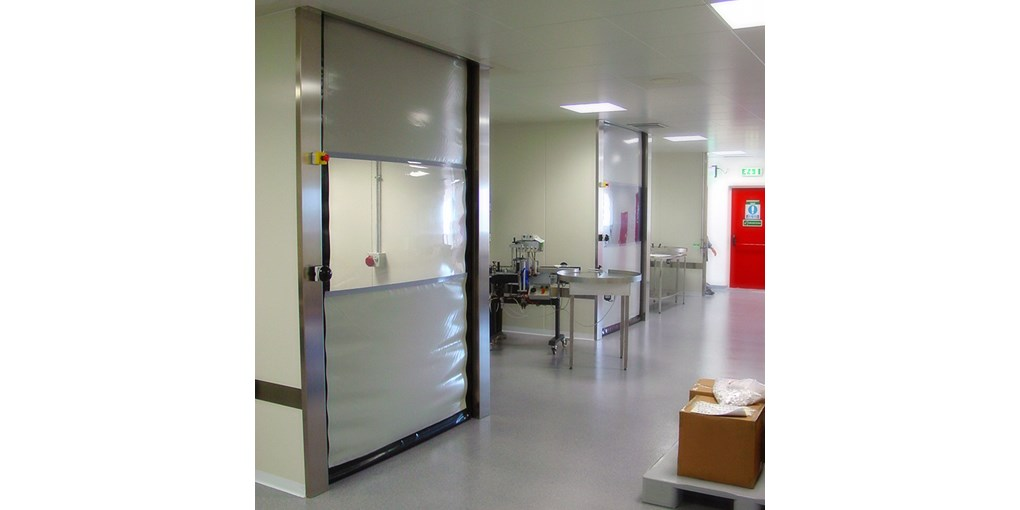 Скоростные ворота для медицинской лаборатории