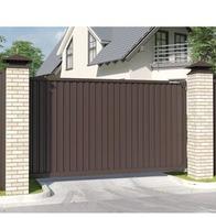 Откатные ворота с приводом DoorHan для загородного дома