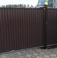 Ворота откатные с приводом Came для загородного дома