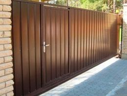 Откатные ворота с приводом Came для дома загородного