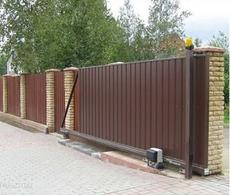 Откатные ворота с приводом Came для частного дома
