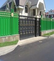 Раздвижные ворота с приводом Came для загородного дома