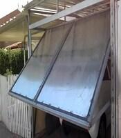 Ворота подъёмные с приводом FAAC для гаража
