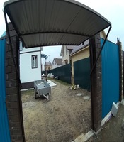 Подъёмные ворота с приводом FAAC во двор