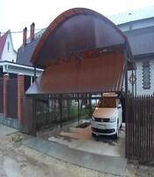 Ворота подъёмные с приводом FAAC для двора