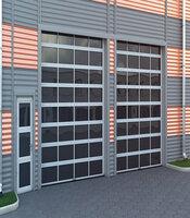 Промышленные панорамные ворота с приводом Doorhan