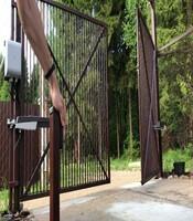 Распашные ворота с приводом Came для предприятия