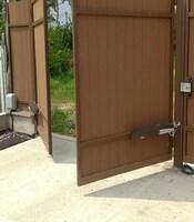 Ворота распашные с приводом Came для частного дома