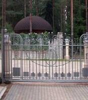 Ворота откатные с ковкой с приводом Came