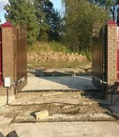 Распашные ворота с приводом Came