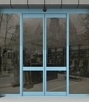 Раздвижные двери с приводом Doorhan в офисное здание
