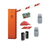 Автоматический шлагбаум со светоотражающими наклейками GARD 2500 CAME